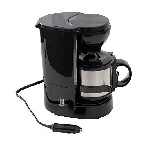 LKW Kaffeemaschine mit Thermobecher, inkl. Wandhalterung, Dauerfilter, 24V / 300W - Reisekaffeemaschine Camping Kaffeeautomat Filterkaffeemaschine