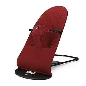 Haioo Silla Mecedora de Bebés Plegable Portátil y Ajustable Hamaca Ligera con Balanceo Natural Tela Suave y Cómoda (Rojo)