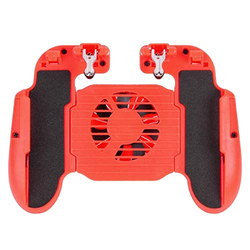 CUHAWUDBA H5 Cooling Fan Gamepads Game Pad Handle Gaming Controller Joystick para IOS Android TeléFono MóVil Mobile PUBG Aid Holder Stand