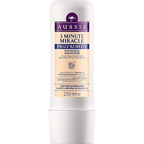 Aussie 3 Minute Miracle Frizz Remedy Soin Intensif pour Cheveux Indisciplinés 250 ml