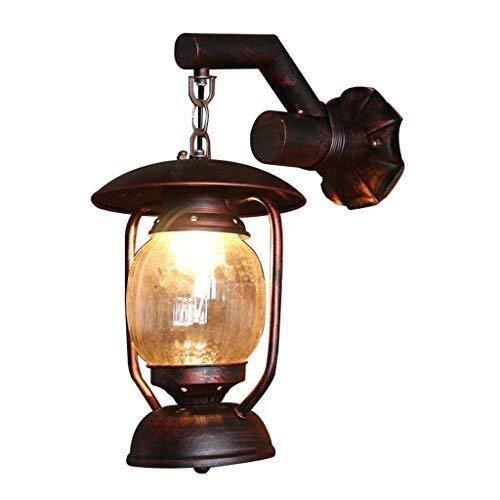 TQQ Lámpara de Pared Interior American Village Cafe Antiguo Creativo ala del balcón Loft lámpara de Pared de Hierro