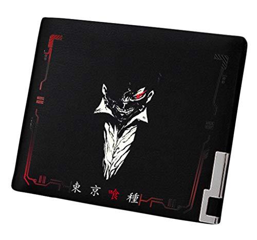 WANHONGYUE Tokyo Ghoul Anime Bifold Brieftasche Kunstleder Schlanke Geldbörse Portemonnaie Kreditkartenhülle /5