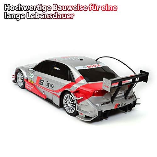 RC Auto kaufen Tourenwagen Bild 2: Audi A4 DTM RC ferngesteuertes Lizenz Fahrzeug im Original Design, Modell Ma stab 1 16, Ready to Drive, Auto inkl Fernsteuerung*