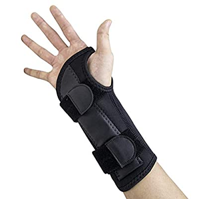 Beootcr Carpal Tunnel Wrist Brace for Night Support,Wrist Splint with a Removable Metal,Fully Adjustable to Fit Any Hand.Suitable for Men,Women, Tendonitis,Hand Brace for Injuries,Wrist Pain Relief.