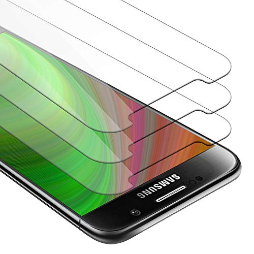 Cadorabo 3X Panzerglasfolie für Samsung Galaxy S6 - Schutzfolie in KRISTALL KLAR - 3er Pack Gehärtet (Tempered) Bildschirmschutz Glas in 9H Festigkeit mit 3D Touch Kompatibilität