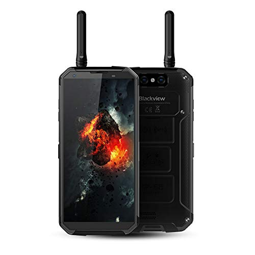 Rugged Cellphones Unlocked Blackview BV9500 Pro,IP68/69K MIL-STD-810G Waterproof 4G LTE Smartphone,5.7' 6GB/128GB Octa Core Android 8.1 Mobile with Two Way Radios Walkie Talkie,10000mAh,NFC (Black)