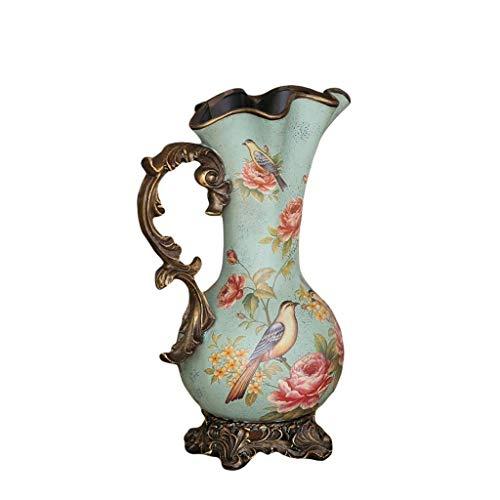 Jarrones de decoración para el hogar Flor de cerámica de Gran país y decoración de Aves Flor de Piso Decoración del hogar Flor de Estilo Europeo
