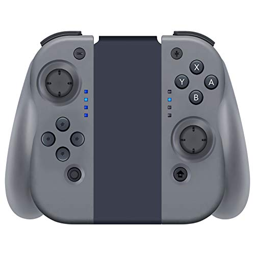YHT Wireless Joy Pad Controller for Nintendo Switch, Replacement Joy Con with Redesigned Ergonomic Hand Grip Comfortable Handheld Gamepad Remote(Grey)