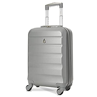 Aerolite ABS Bagage Cabine Bagage à Main Valise Rigide Légere à 4 roulettes, Approuvées pour Ryanair, Easyjet, Air France, Lufthansa, Jet2, Monarch et Plus