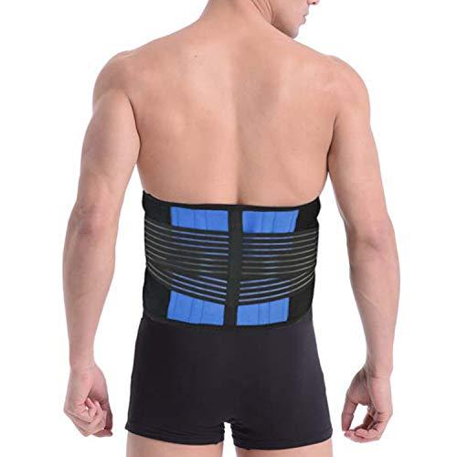 FITTOO Rückenbandage Verstellbarer Rückengurt Kompression Rückenstützgürtel Rücken-Gurt mit 4 Stützstreben Lendenwirbelstütze Starke Bauchweggürtel Sport Lindert Schmerzen Damen und Herren L