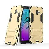 Carcasa rígida protectora de doble capa para Samsung Galaxy J6 Plus/J6+ 2018 (color: dorado)