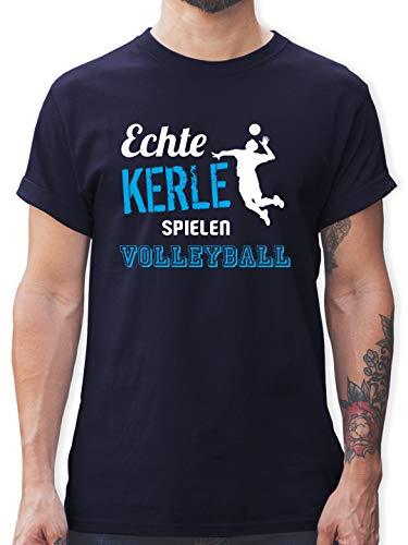 Volleyball - Echte Kerle Spielen Volleyball - M - Navy Blau - echte Kerle Spielen Volleyball Herren - L190 - Tshirt Herren und Männer T-Shirts