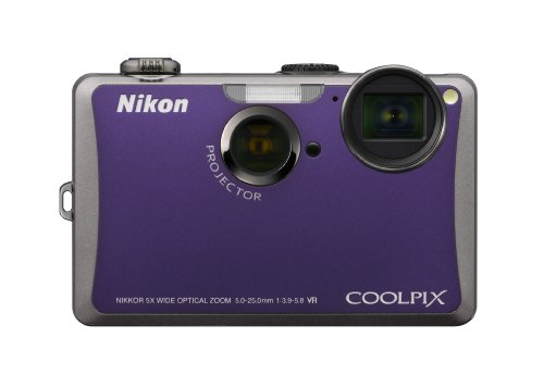 Nikon Coolpix S1100pj 14 MP Digital Camera with 5x Wide Angle Optical Vibration Reduction (VR) Zoom and 3-Inch LCD and Built-in Projector (Violet)