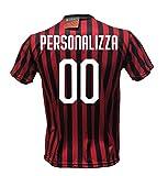DND DI D'ANDOLFO CIRO Maglia Calcio Milan Personalizzabile Replica Autorizzata 2019-2020 Taglie da Bambino e Adulto. Personalizza con Il Tuo Nome o Il Nome del Tuo Giocatore Preferito. (L(Adulto))