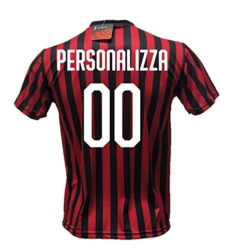 DND DI D'ANDOLFO CIRO Maglia Calcio Milan Personalizzabile Replica Autorizzata 2019-2020 Taglie da Bambino e Adulto. Personalizza con Il Tuo Nome o Il Nome del Tuo Giocatore Preferito. (S (Adulto))