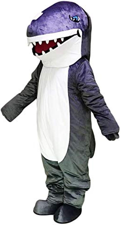 Rushopn Grey Shark Mascot Costume