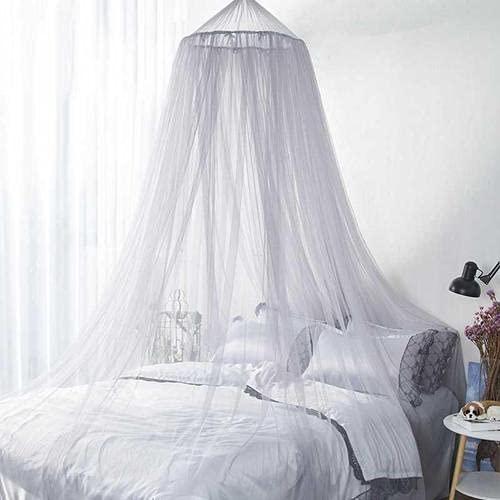 FGen Mosquitera Cama Matrimonio, Dosel para Cama Infantil con Diseño de Cúpula, Fácil Colgante Mosquitera Viaje, Mosquito Net para Decorar la Habitación y Prevenir Insectos (para Todos Los Tam