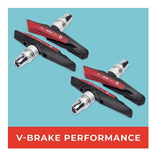 mächtig 2 Paar 72 mm asymmetrische V-Bremsbeläge für IShimano, Tektro, Avid, Sram, XLC UVMI hoch…