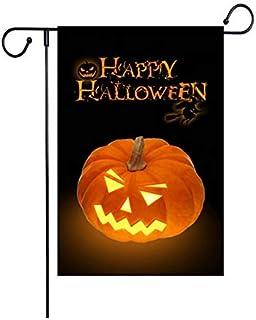 "Fiuqaomy Happy Halloween Pumpkin Sorceress Garden Flag Vertical Double Sized, Holiday Burlap Yard Outdoor Decoration 12.6""..."