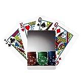 Juego de tarjeta de chip Juego de póquer de fotos Juego de cartas mágicas