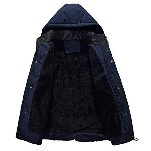 Daysing Herren Winterjacke Lange Winter Parker Mantel Dicke warme Outdoor-Sportjacke Winddicht Mantel Mode Übergangsjacke mit Kapuze Daunenjacke