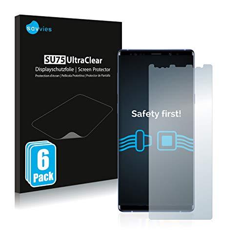 savvies 6-Pezzi Pellicola Protettiva Compatibile con Samsung Galaxy Note 9 Protezione Schermo Trasparente