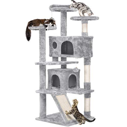 Yaheetech Árbol para Gatos Rascador Centro de Juego de Gatitos Mascotas con...