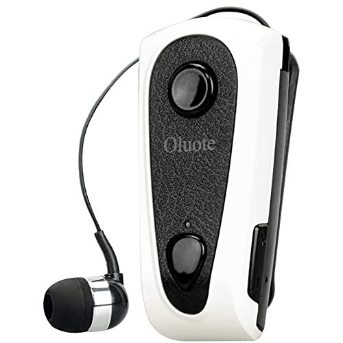 Oluote Auricolare Bluetooth Business, Auricolare Bluetooth Senza Fili con Microfono, Bluetooth V4.0, Vivavoce, 120 Ore di Standby, Compatibile per iPhone Cellulare Android (Bianca)