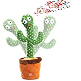 GooKit Dancing Cactus Plush Toys Sing,Dance and Record Electronic Toy for Holiday Birthday Children Gift…
