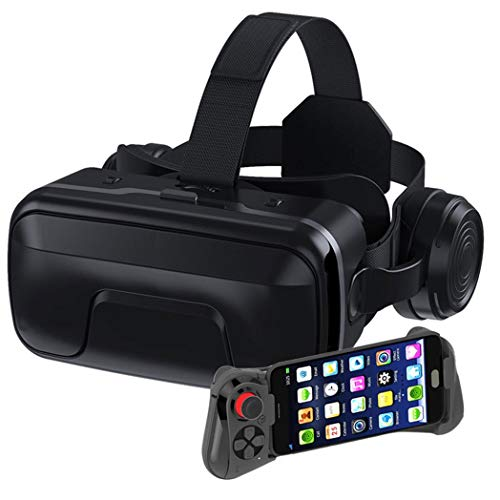 ZJJY VR Headsets, Virtual Reality Headset, Bluetooth Controller for iPhone 11/Pro/X/Xs/Max/XR/8P/7P,for Samsung S20/S10/S9/S8/Plus/Note 10/9/8,Phones w/ 4.7-6.5in Screen, L013xq