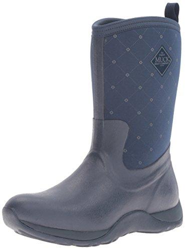 Muck Boots Arctic Weekend Prints-Quilted Print, Damen Kurzschaft Gummistiefel, Blue (navy/castlerock Print), 36 EU