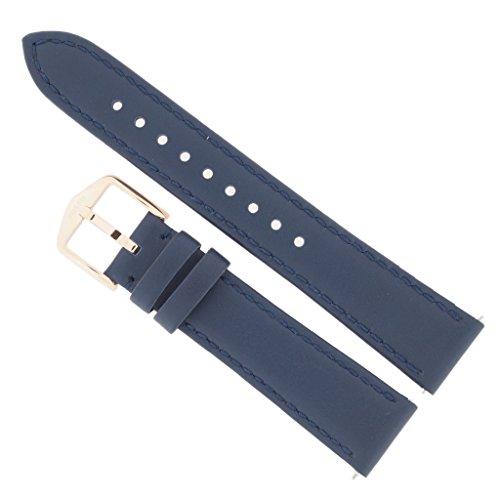 Fossil Reloj Banda Correa Intercambiable LB de es4158 para Banda es4158 Reloj de Pulsera Piel 18 mm, Color Azul