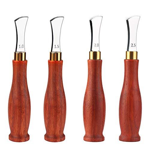Cuero poco profundo ranura borde Lineer Edge dispositivo, borde Creaser acero inoxidable, herramientas de trabajo de prensado de cuero, 1.0/1.5/2.0/2.5mm para artesanía de cuero