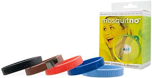 MosquitNo Trendy Citronella Regular Bracelets 5-Pack Classic Assorted Colours