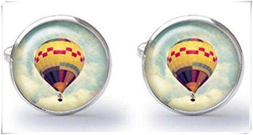 Boutons de manchette – Ballon – Air chaud – Boutons de manchette – Mariage – Boutons de manchette (Paire)