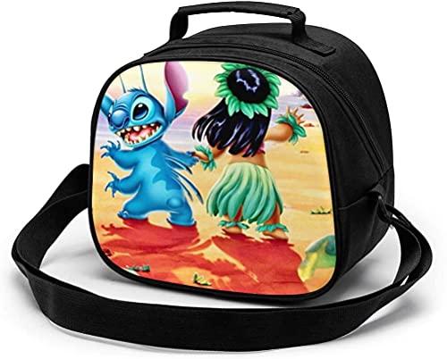 Bolsa de almuerzo para niños, reutilizable y portátil, con correa para el hombro y asa