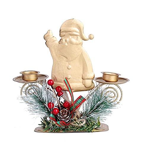 Portavelas, Titular de la vela para la mesa de la mesa Canastillas de vela de la mesa de la sala de estar de la sala de cumpleaños Decoración de la Navidad Decoración de la boda Ornamento Luz de té (c