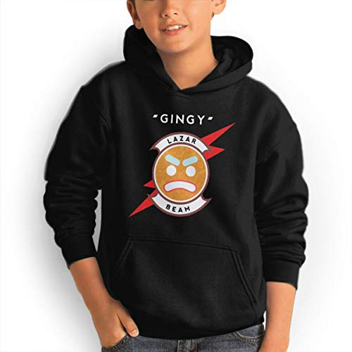 Youth Lazarbeam Gingy Pullover Hoodies 3D Printed Long Sleeve Pocket Hooded Sweatshirt S Black