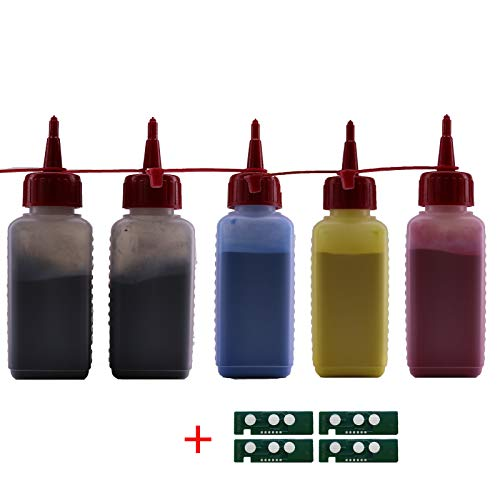 Refill Toner (BCYM) für Samsung Xpress C 430 C480 FW W FN + Chips Set Nachfüll Toner Alle 4 Farben CLT-404 CLT-P404C