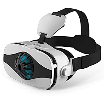 """3D VR Headset/Glasses VR Virtual Reality Goggles w/ Fans for 3D IMAX Movie/Game for Samsung Galaxy Note 10 8 S9 S8 Edge + A9s A6s iPhone 12 Mini 11 Pro XS XR X Max 8 7 SE etc 4.0-6.33"""" Cellphone"""