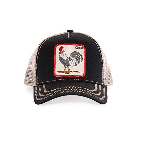 Goorin Bros. Men's Animal Farm Snap Back Trucker Hat, Black Rooster, One Size