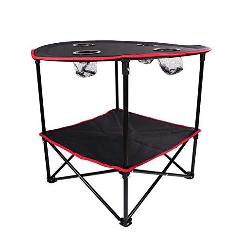 BESPORTBLE 1 Pza Portátil Ligero Plegable Durable Camping Escritorio Barbacoa Mesa para Actividades Al Aire Libre Fiestas Reuniones