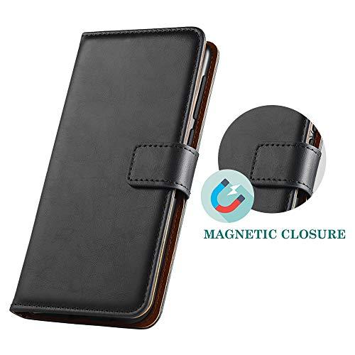 GeeRic Kompatibel Für Huawei Y6 2019 Hülle, [Standfunktion] [Kartenfach] [Magnet] [Anti-Rutsch] PU-Leder Schutzhülle Brieftasche Handyhülle Kompatibel Mit Huawei Y6 2019 Schwarz - 5