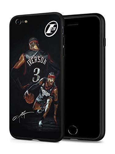 GONA iPhone 6 iPhone 6s Hülle für Basketball-Fans, weiche Silikon-Schutzhülle, dünn, kompatibel mit iPhone 6/6S (nur für iPhone 6/6S), Philadelphia Iverson