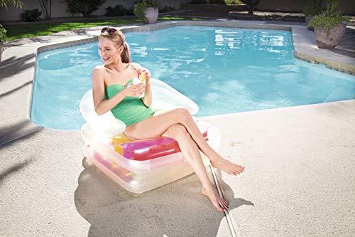 Bestway - Matelas gonflable pliant, fauteuil et chaise longue plage High Fashion, 201 x 89 cm