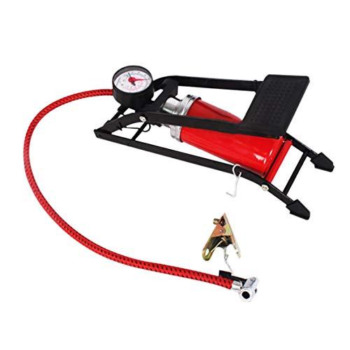 Delicacydex Auto Inflation Pumpe Fußpedal Typ Hochdruck Luftpumpe Mini Tragbare Inflator Maschine für Auto Motorrad Fahrrad Spielzeug - Schwarz und Rot