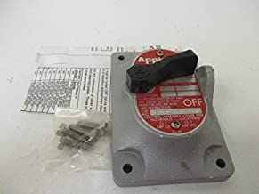 EFKF12Q APPLETON EXPLOSION-PROOF 1-Pole, 20 Amp, 120/277V AC, 1-Gang, EFS Front Operated Switch, Cover Only, Non-Factory Sealed Cover Furnished with Device Mounting Screws. For use with EDS Type Outlet Boxes SNAP, HAZARDOUS LOCATION