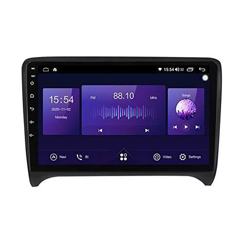 ADMLZQQ Android 10 Radio De Coche 2 DIN Car Stereo para Audi TT TTS 2006-2012 1080P HD Pantalla Táctil Llamadas Manos Libres Bluetooth Navegación GPS Cámara De Visión Trasera(Gift),7862,6+128G