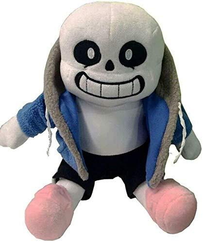 SAGUSI 25cm 1pcs Undertale Plush Toy Undertale Sans Papyrus Frisk Chara Temmie Undyne Plush Stuffed Toys Doll Gift for Children Kids (Sans)