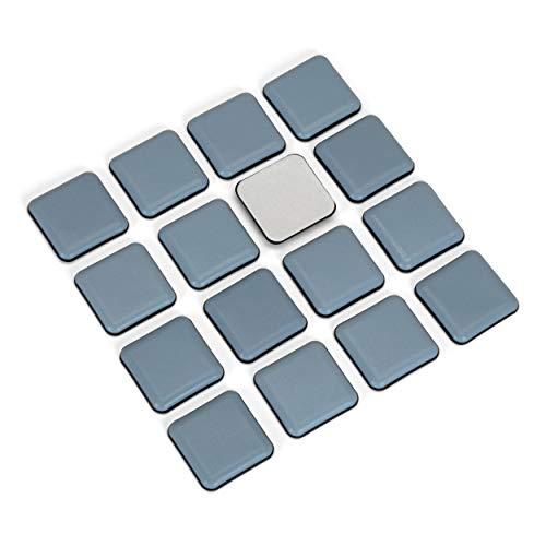 16 Stück/Teflon-Möbelgleiter/viereckig / 40 x 40 mm/selbstklebend/Bodenschützer/PTFE-Gleiter